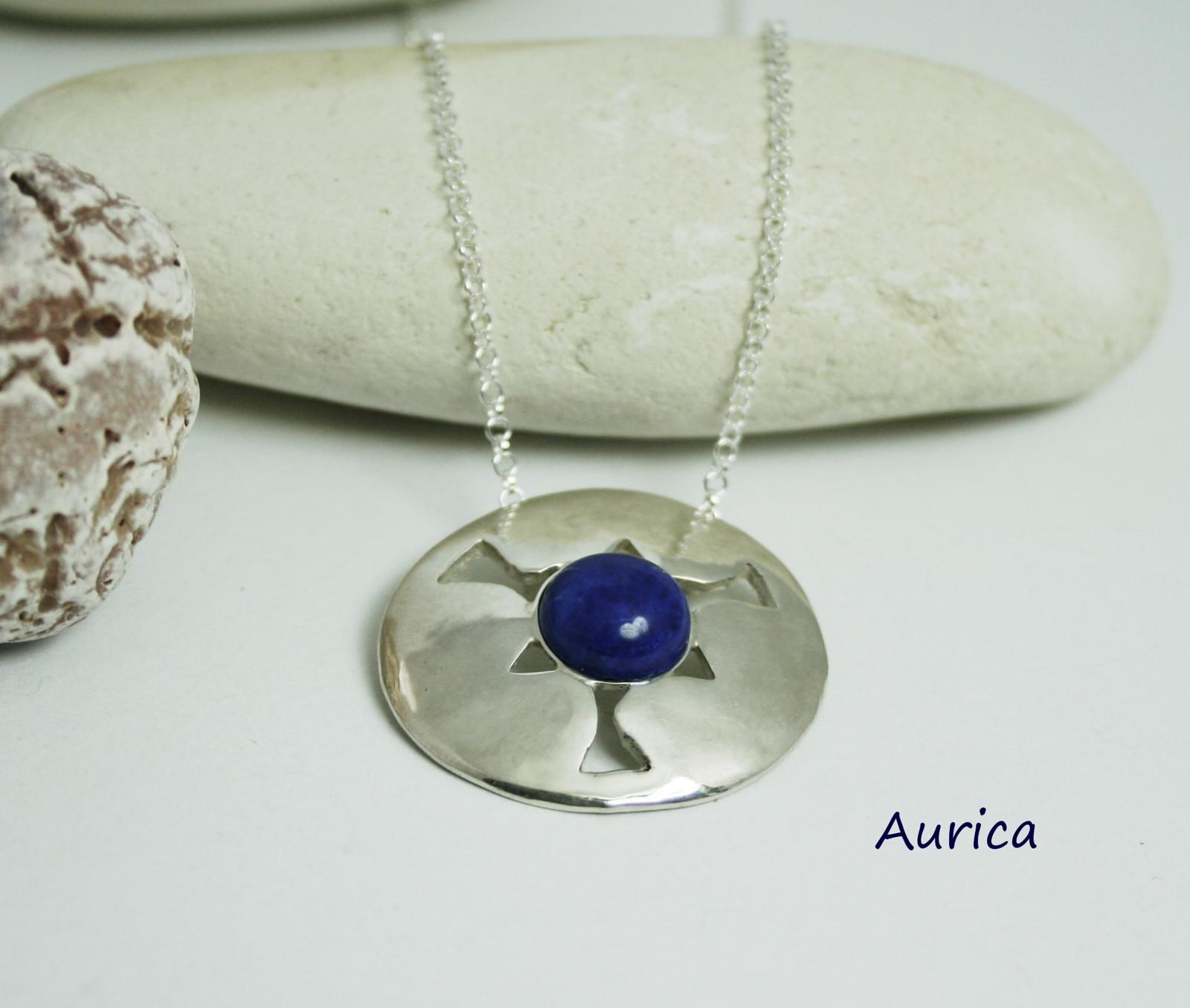 Stříbrné kolečko Ag 925 na řetízku s lapis lazuli   Zboží prodejce ... fb42765066f