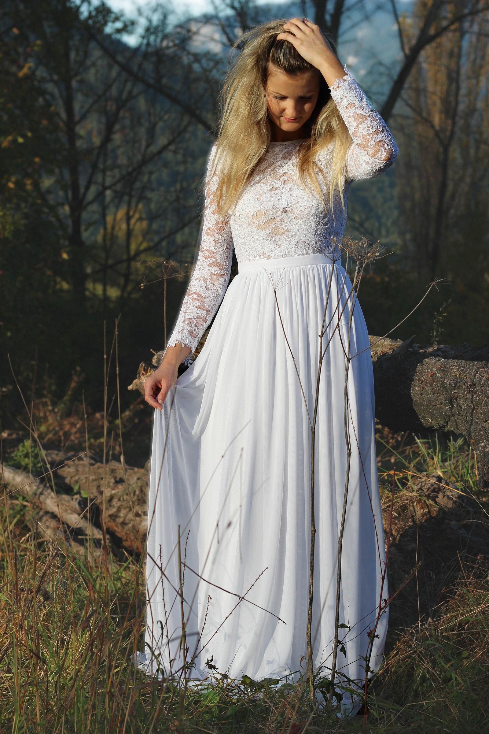 Svatební šaty s dlouhým rukávem   Zboží prodejce Dyona  66c1726195