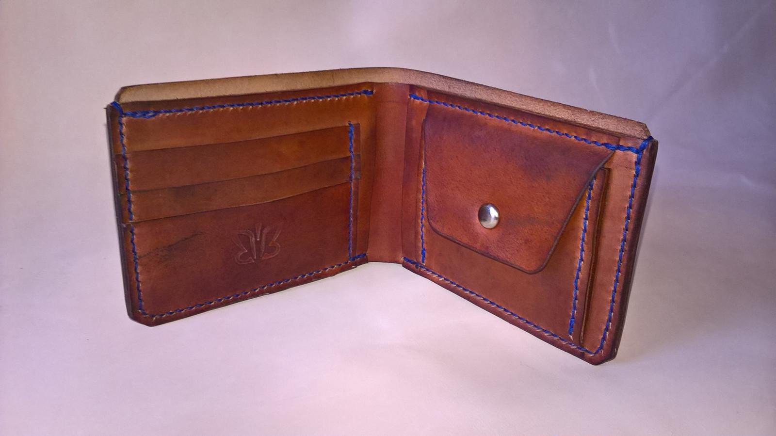 Pánská peněženka ručně šitá - Hnědá   Zboží prodejce Baldonovo ... 8431e106e5