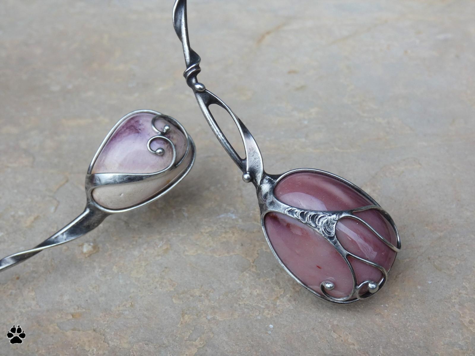 5d9a0626a Mookaity na obruči - cínovaný náhrdelník / Zboží prodejce Cíněnka ...