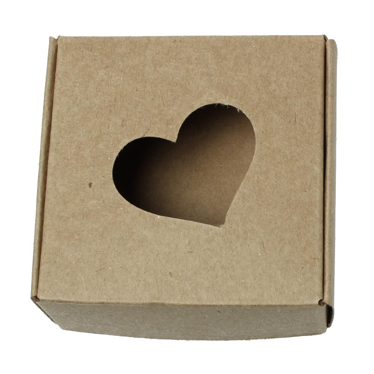 dárková krabička srdce  hnědá  75mm  1ks   Zboží prodejce Shushu ... 374dfaa120f