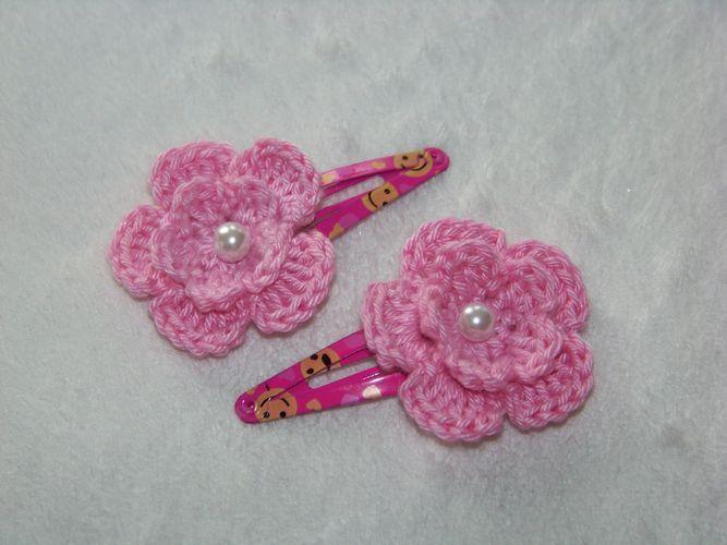 Sponka do vlasů - světle růžová kytička   Zboží prodejce gabriela ... f52c3cc6ab