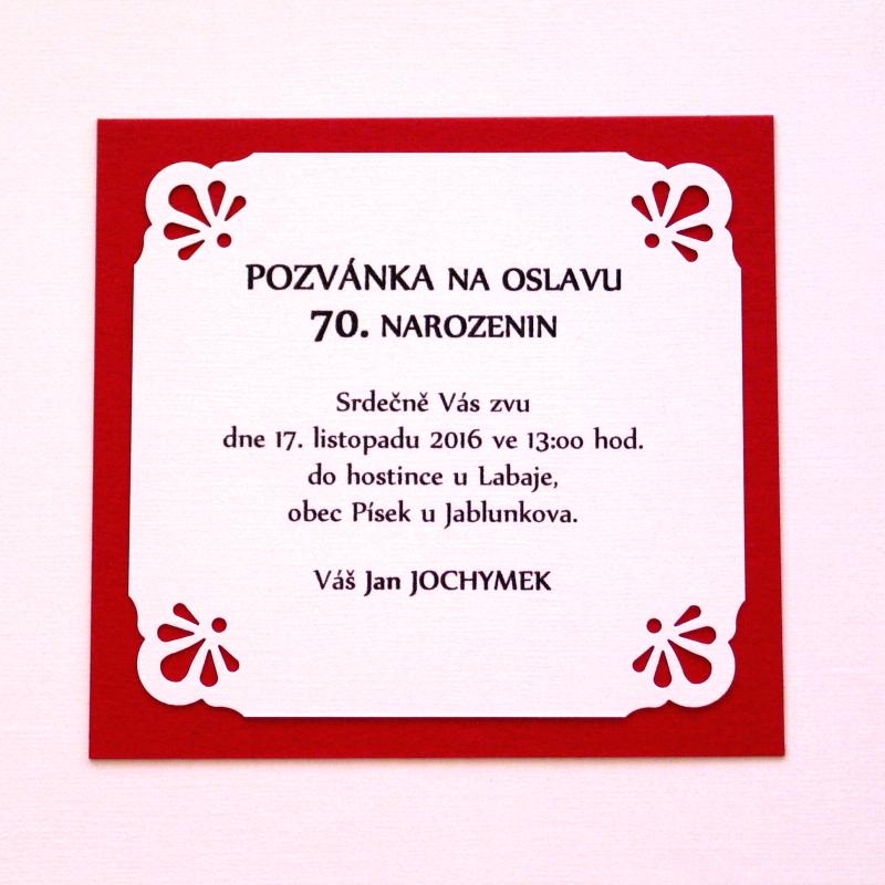 pozvánka na 70 narozeniny Pozvánka na narozeniny / Zboží prodejce Misha Creative | Fler.cz pozvánka na 70 narozeniny
