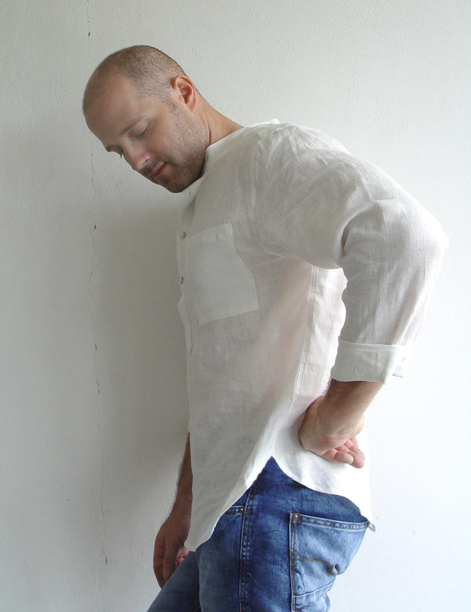 LNĚNÉ DOTEKY .... vel. XL - lněná košile   Zboží prodejce siska111 ... a986832418
