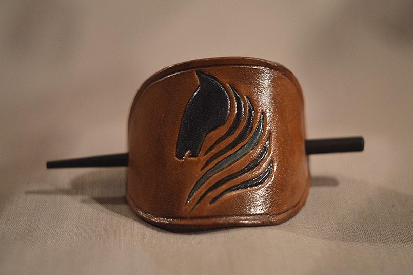f5557145751 Kožená spona do vlasů - motiv kůň   Zboží prodejce Kožené výrobky ...