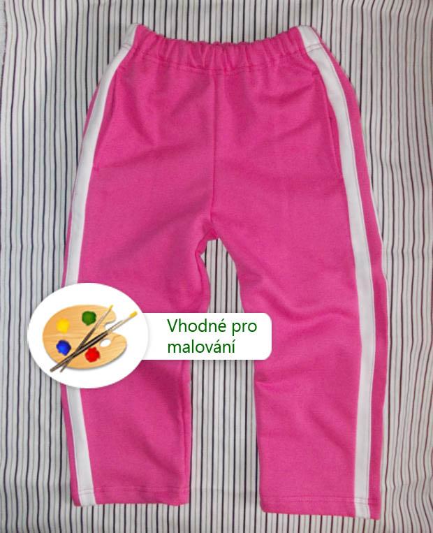 Tepláky růžové dívčí - s postranními bílými pruhy   Zboží prodejce ... 26e0d9f908