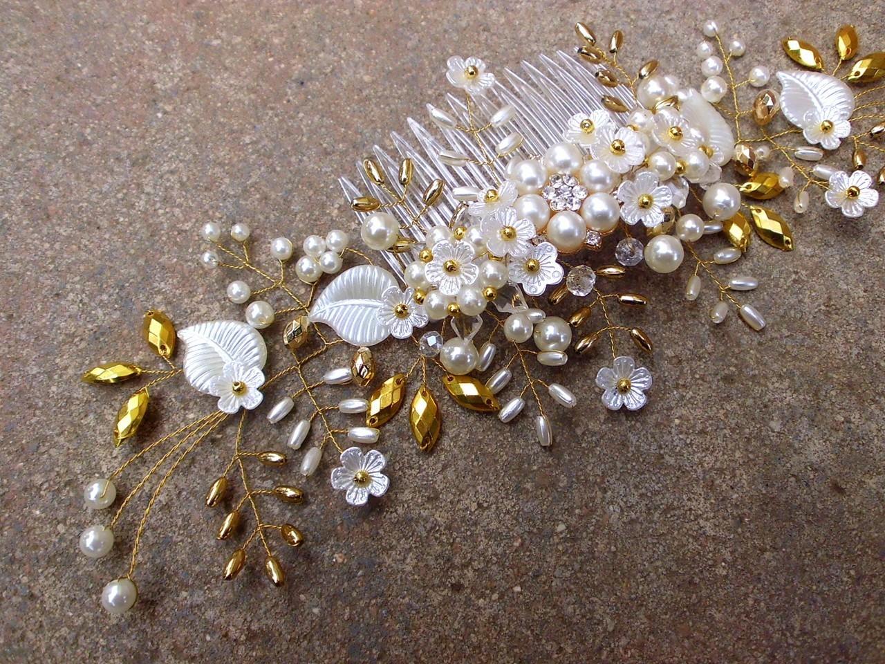 svatební hřebínek do vlasů - ivory bílý 186bd40d06