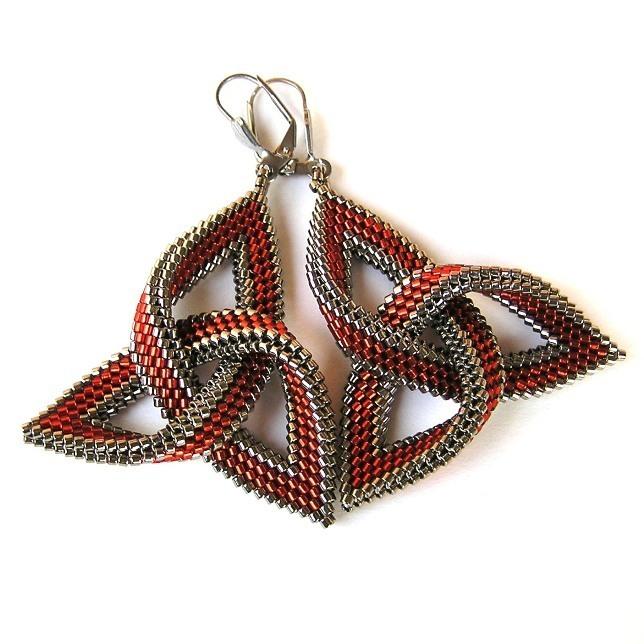 Ohnivá červená s ocelovou   Zboží prodejce DaSche  044c8cebc6b