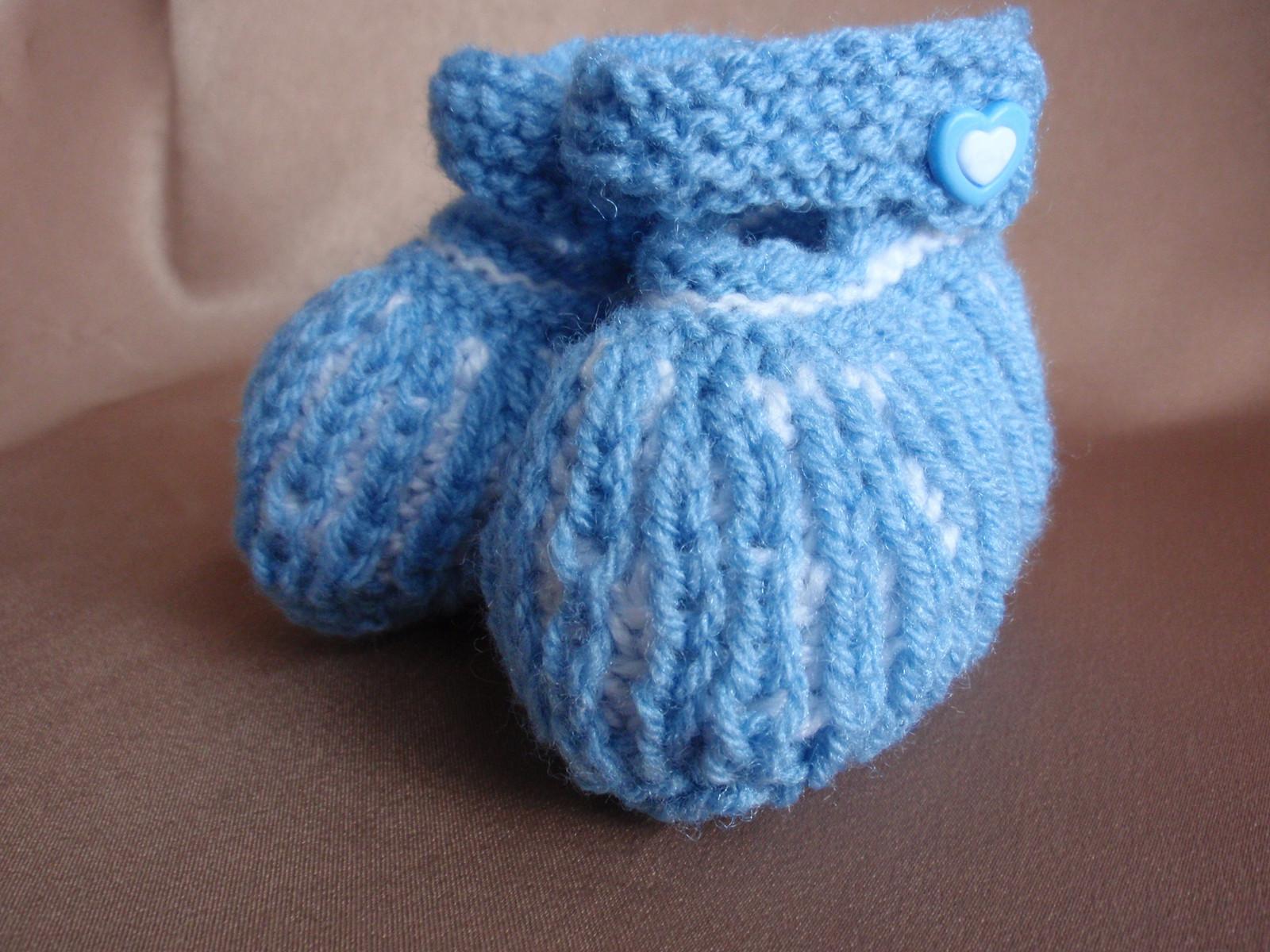 e459e41e5f4 Pletené bačkůrky modré   Zboží prodejce BarmbíkDětem