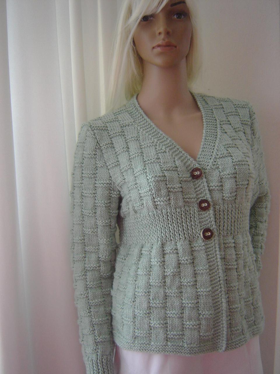 e81432f0d1c2 Ručně pletený svetr mentol   Zboží prodejce viv-design