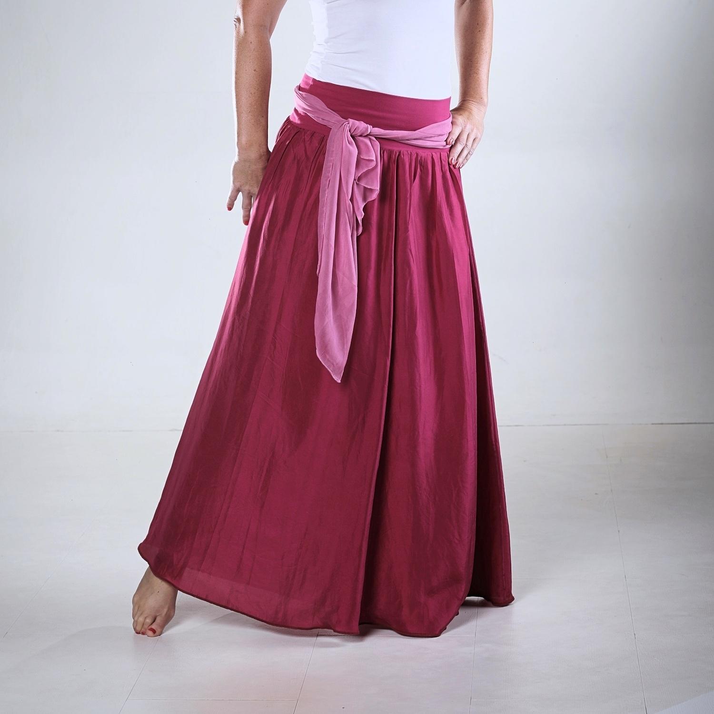 a307cea499db Malinová...dlouhá hedvábná sukně SKLADEM   Zboží prodejce laduse ...