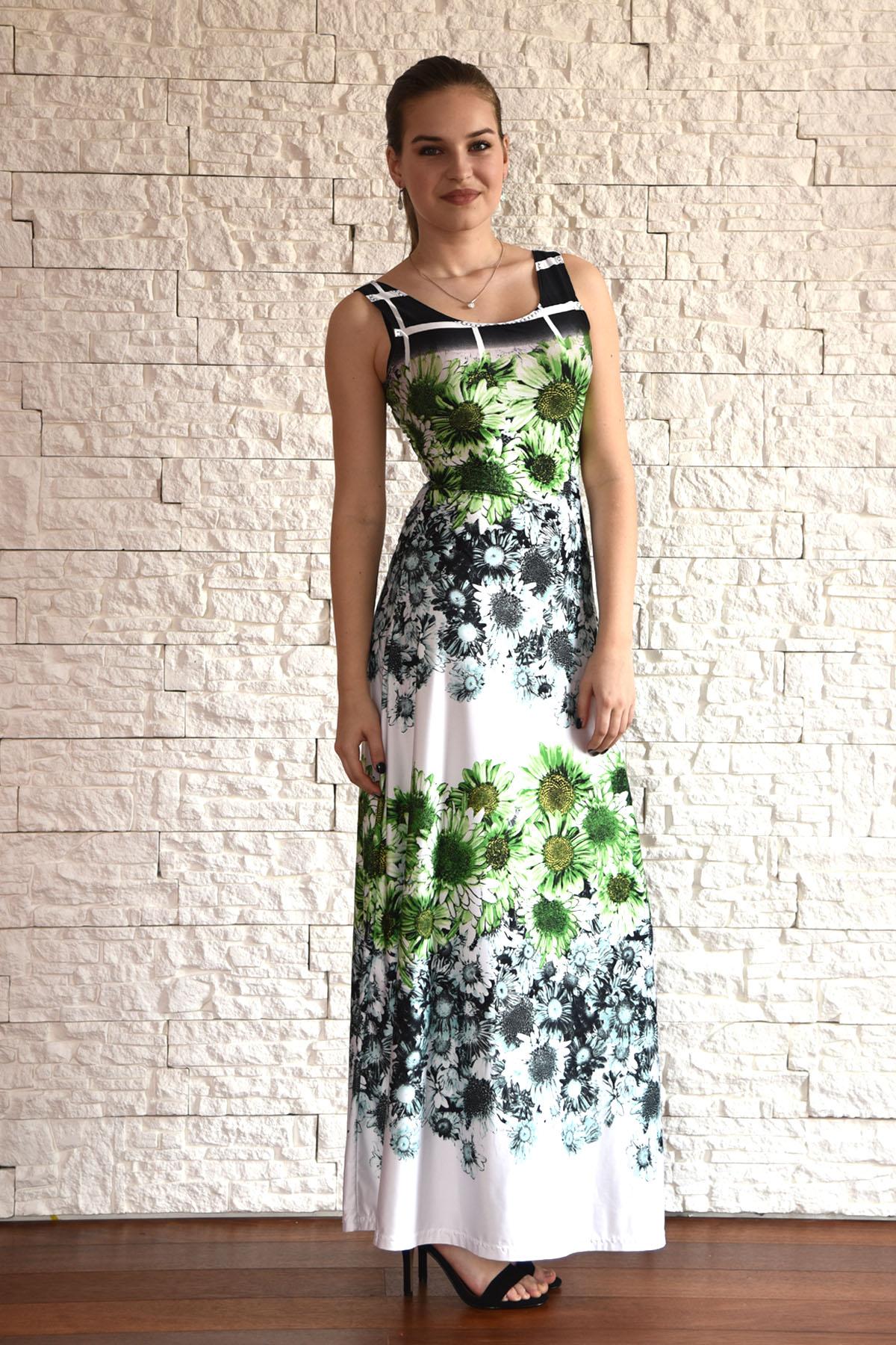 8d3101aa726 Elegantní dlouhé letní šaty s motivem květů   Zboží prodejce Janette ...