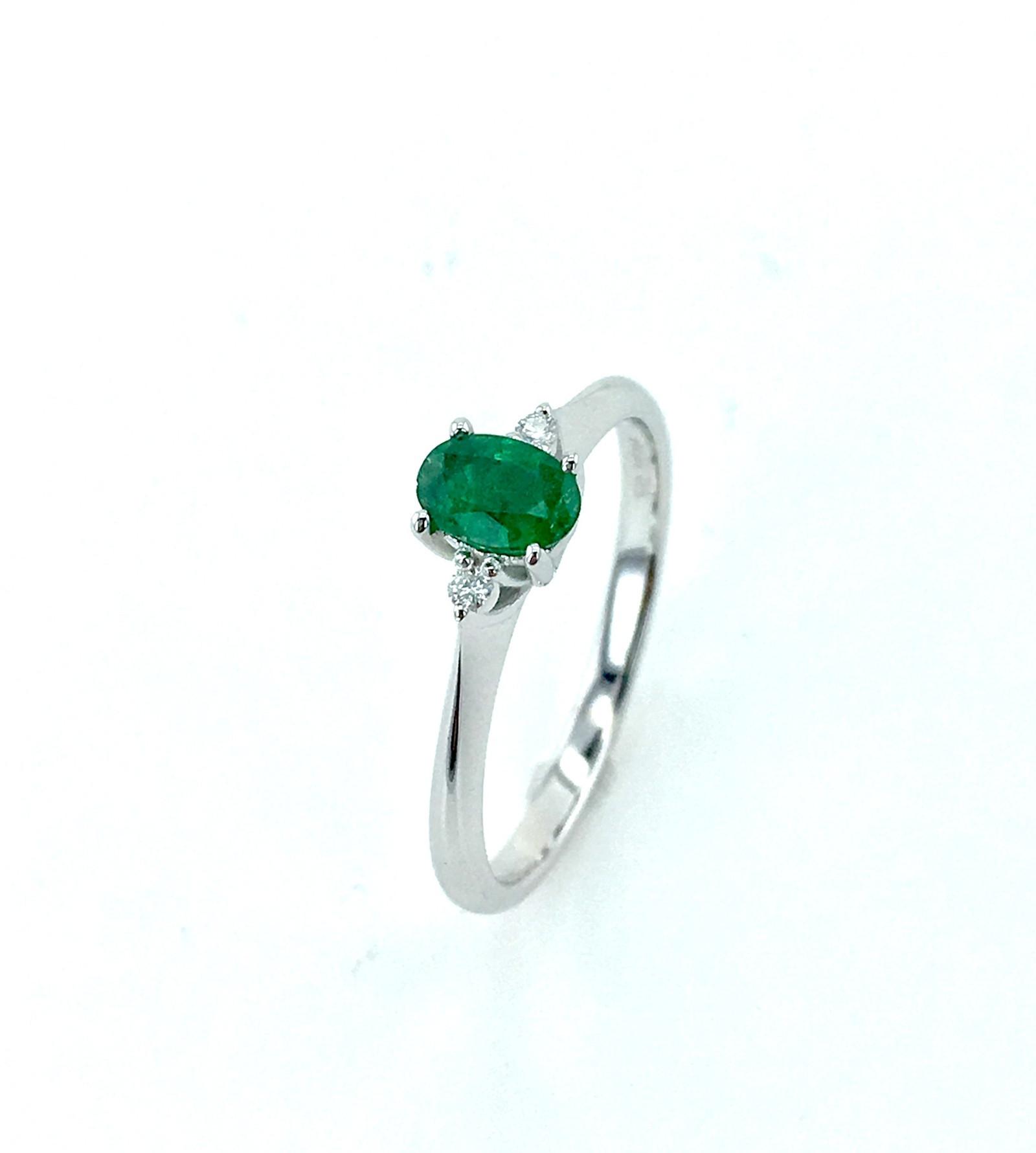 fa3864dd1 Prsten Smaragd/brilianty v bílém zlatě / Zboží prodejce ŠperkyJann ...