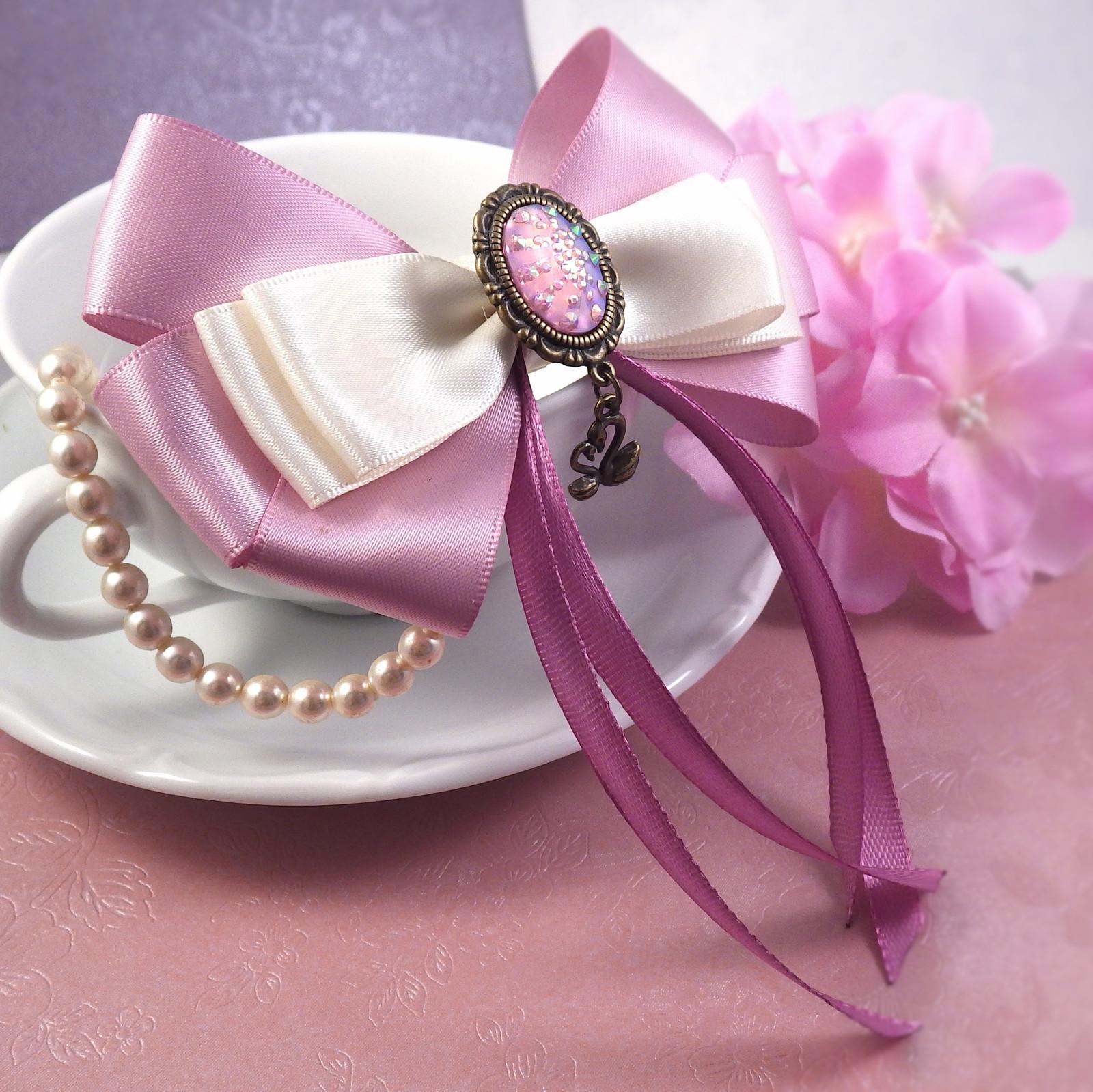 904c6c3890f Mašle do vlasů - něžná růžová   Zboží prodejce Rosadko