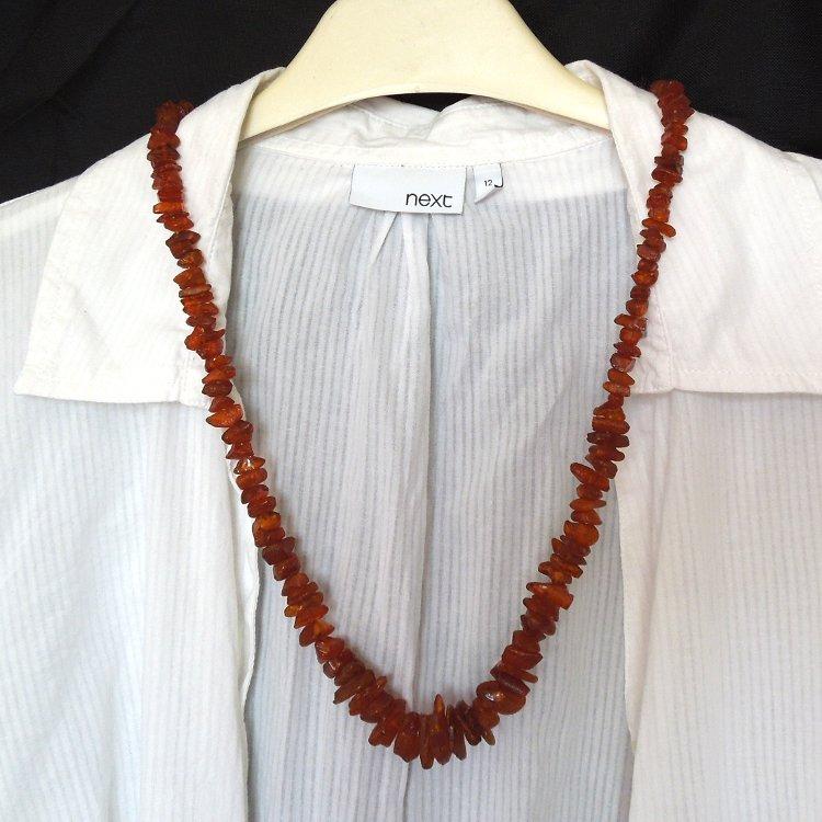 7113b9558 Jantarový náhrdelník - sekaný pobaltský jantar / Zboží prodejce ...