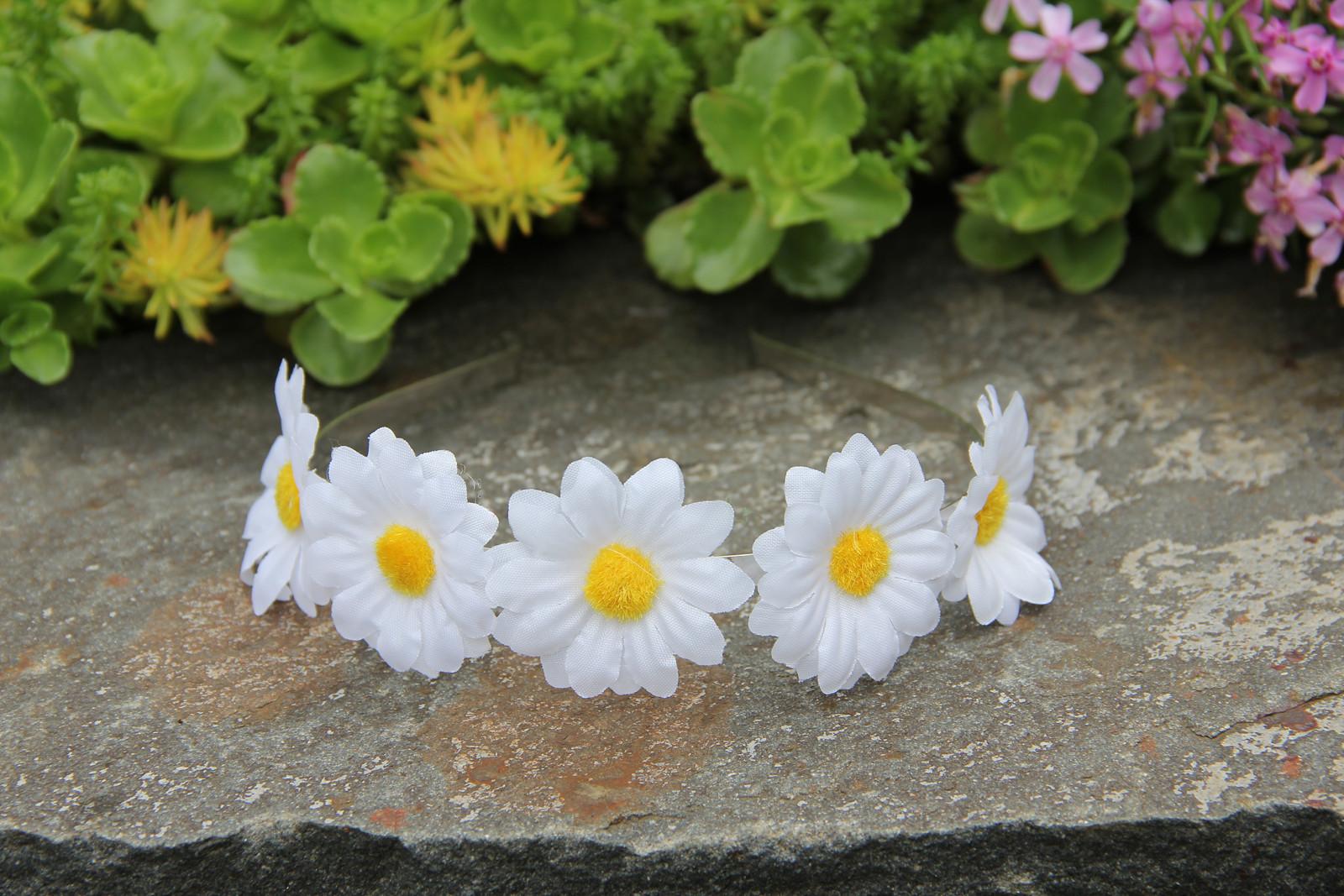 1a6b5343314 Kopretinová čelenka - pět květů   Zboží prodejce krásná čelenka ...