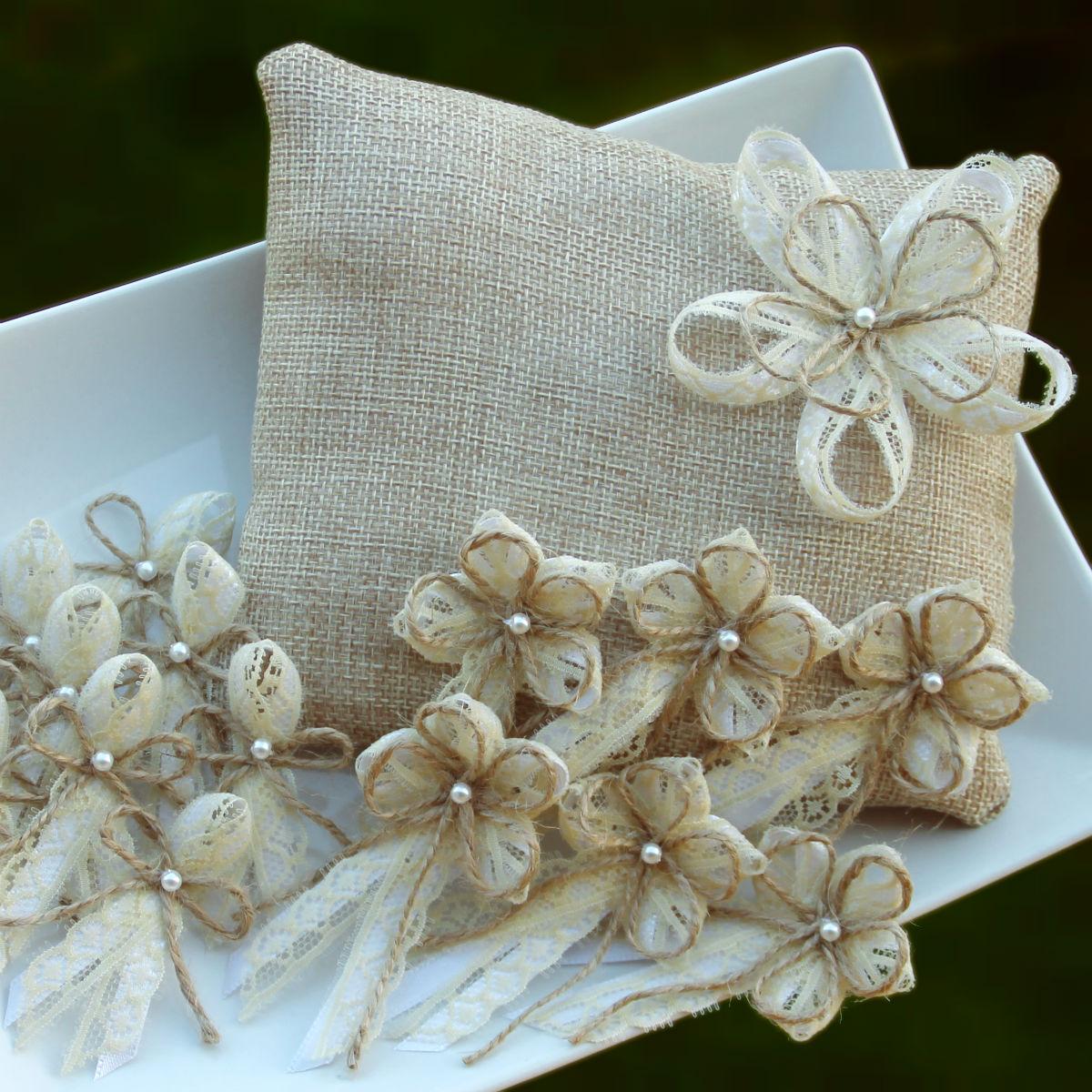 Svatba Prirodni Luxusni Polstarek Vyvazky Zakladni Sada 1 6 10