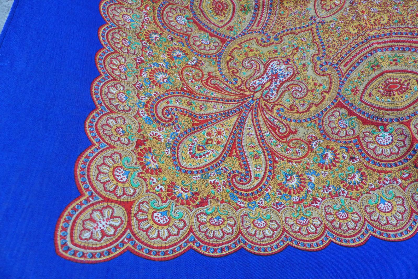 ce7b7739ef8 Modře...starý vlněný kašmírový šátek   Zboží prodejce letokruhy ...