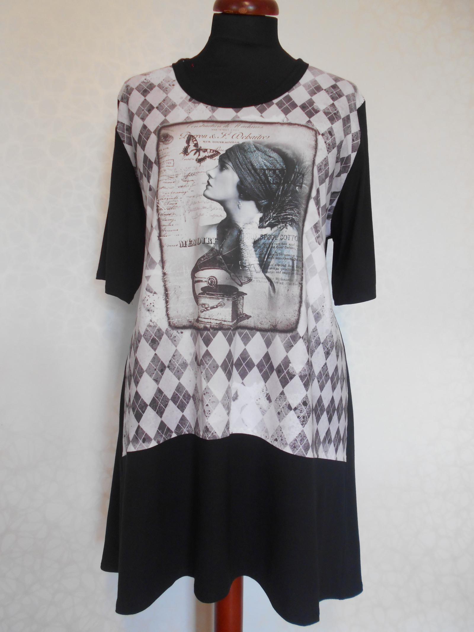 Tunika -černobílá elegantní   Zboží prodejce evelina30  84dfb2427f