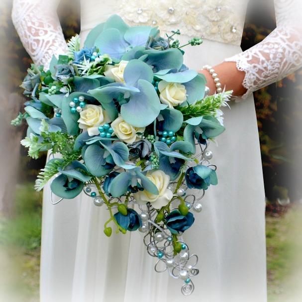 Svatebni Kytice Orchidea Tyrkys Korsaz Zbozi Prodejce Kultdesign