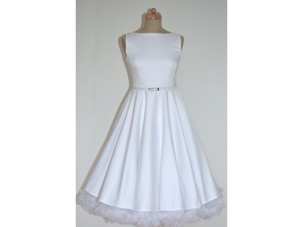 Krátké svatební retro šaty SUSAN bílé   Zboží prodejce Mia Bella ... 054042a7b0
