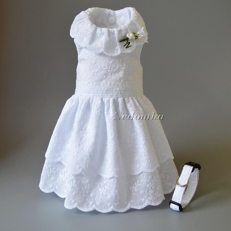 2fec93b7f2ef Svatební šaty + obojek Bílá romantika (velikost na přání)   Zboží prodejce  nedomka