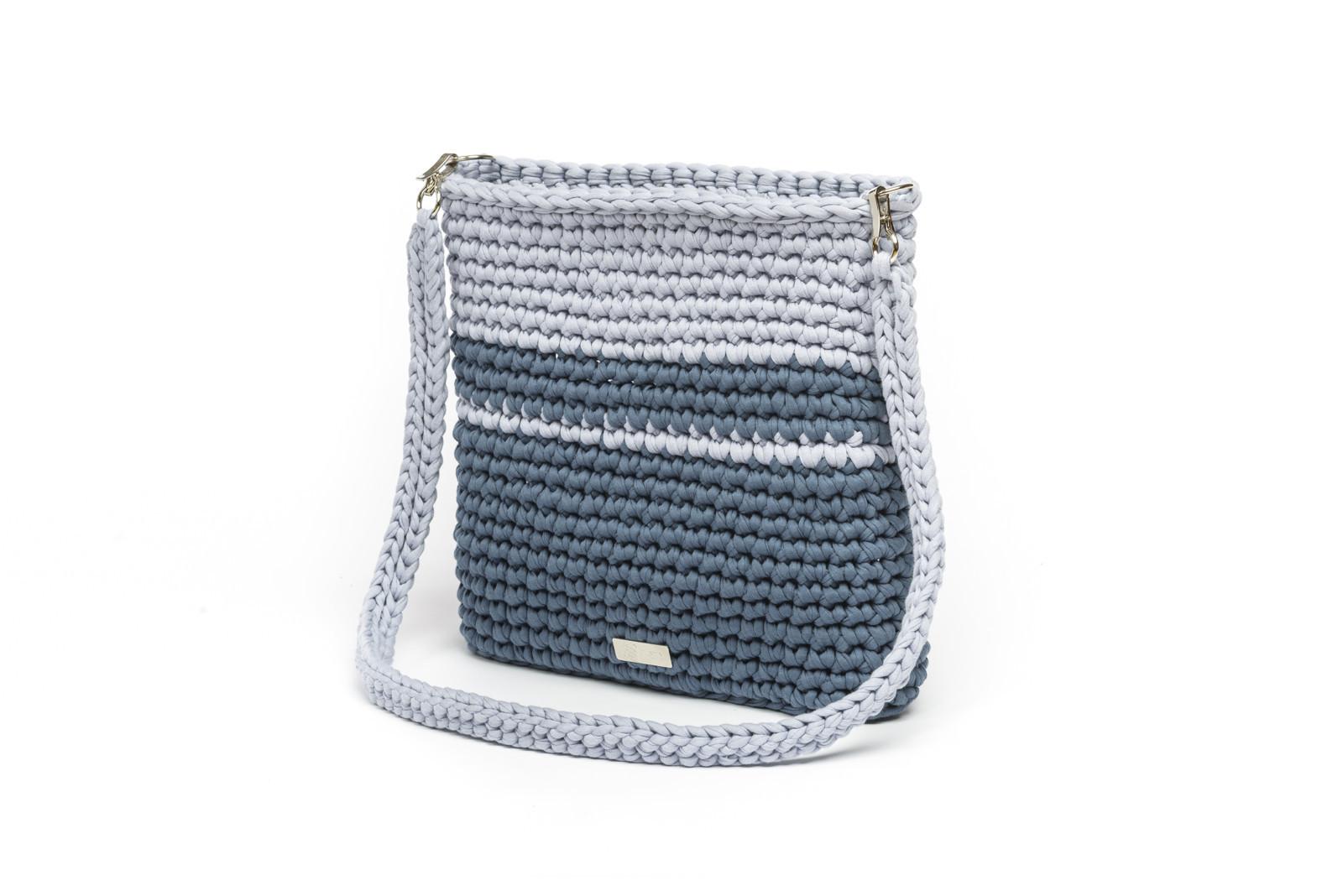 Háčkovaná crossbody kabelka viktorie šedomodrá   Zboží prodejce ... d2b5cc23810