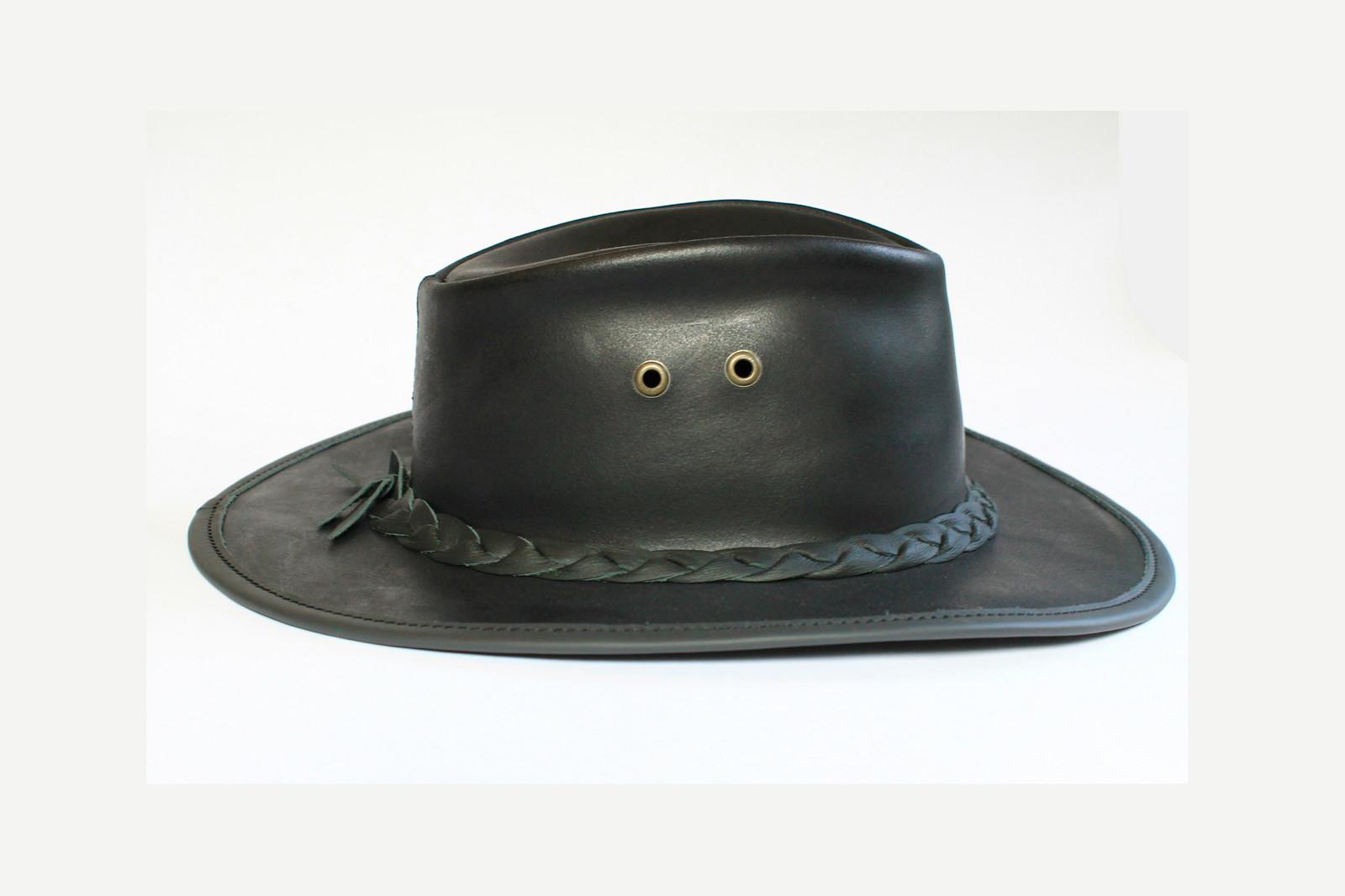 c4950963fb6 Klobouk kožený australský - černý   Zboží prodejce Rukodílna