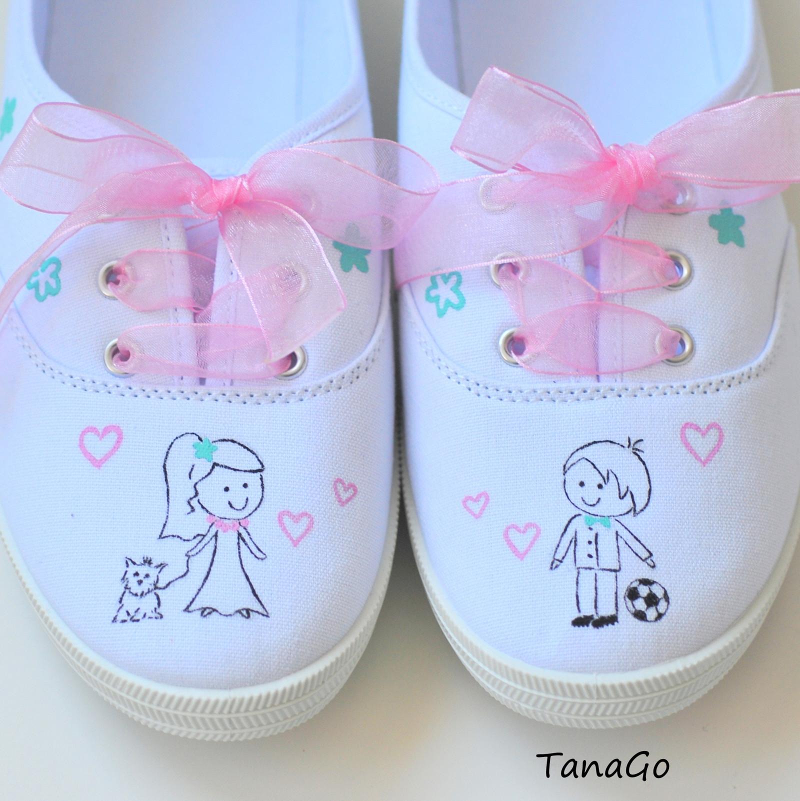 Svatební tenisky mentolovo-růžové   Zboží prodejce TanaGo  a12abc4a53