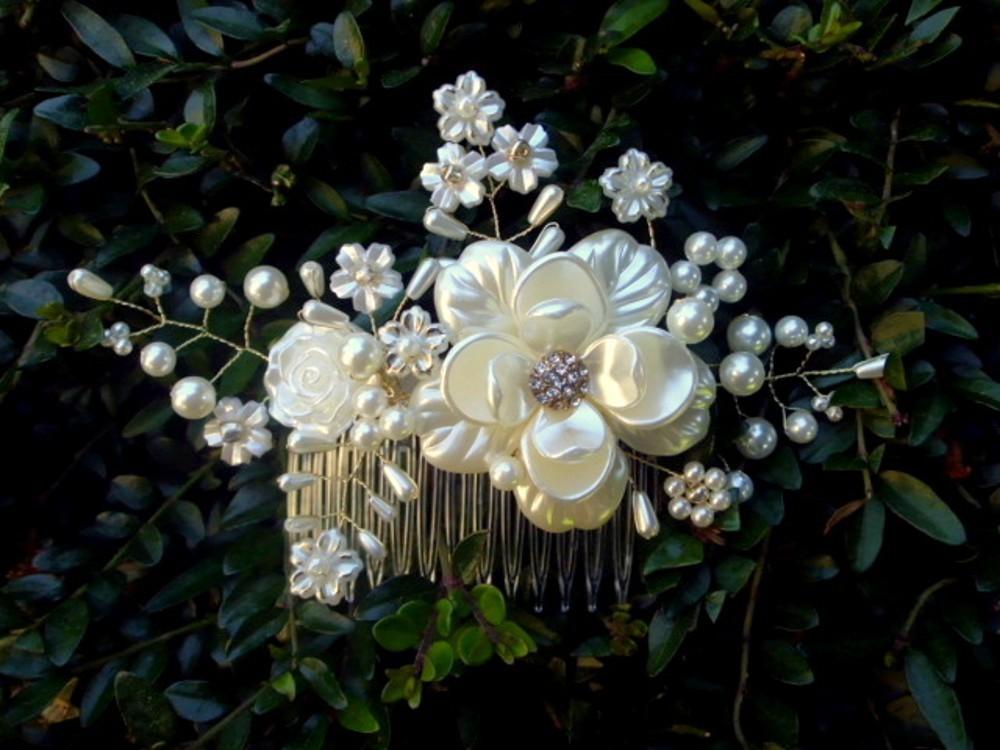 3e8f8d06bf8 svatební hřebínek do vlasů - bílo zlatý 2   Zboží prodejce jaseta ...