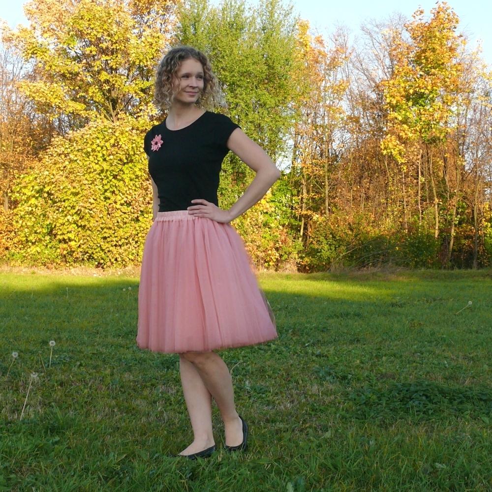 61415a8c5b1 Starorůžová tylová sukně-SKLADEM   Zboží prodejce Princezna ...