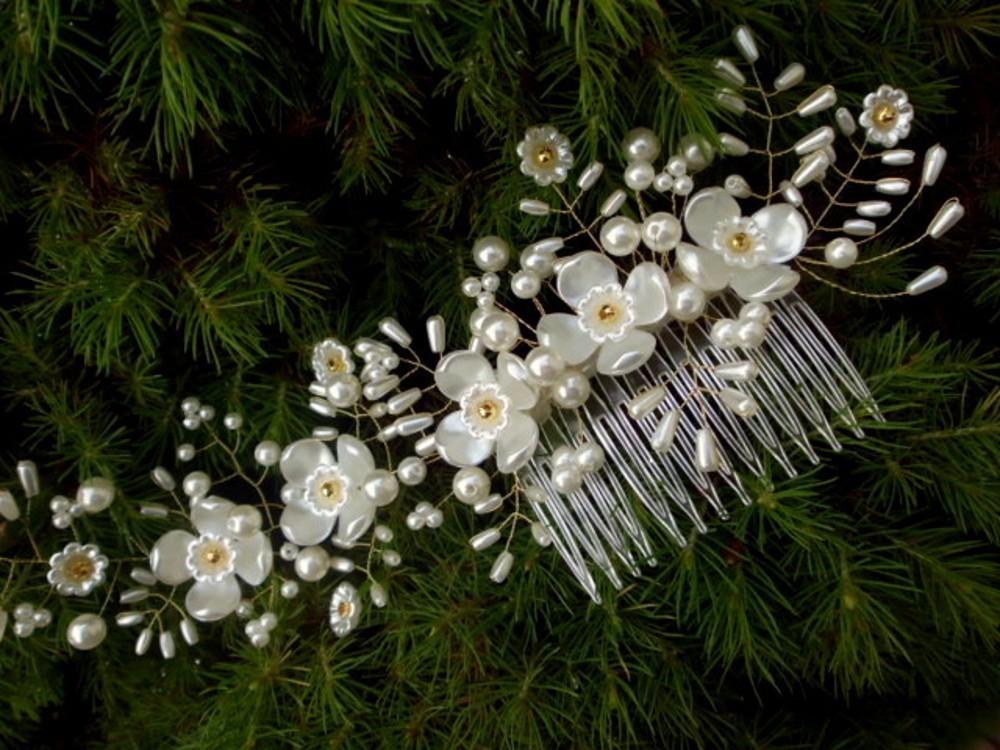 svatební hřebínek do vlasů - bílo zlatý   Zboží prodejce jaseta ... 40a72d459b