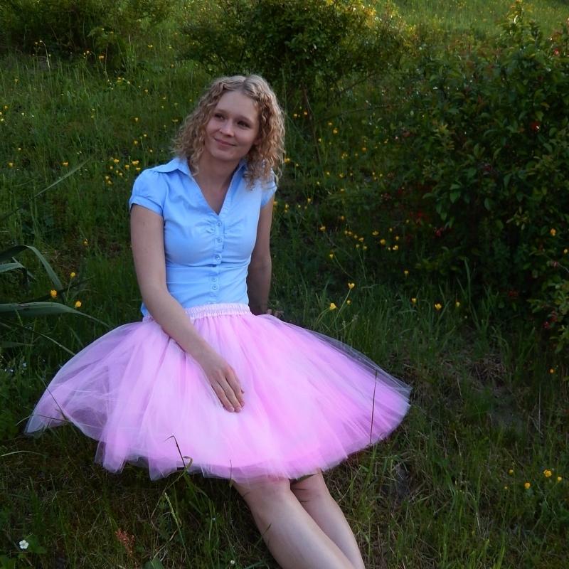 a427a73fc49 Světle růžová tylová sukně   Zboží prodejce Princezna Pampeliška ...