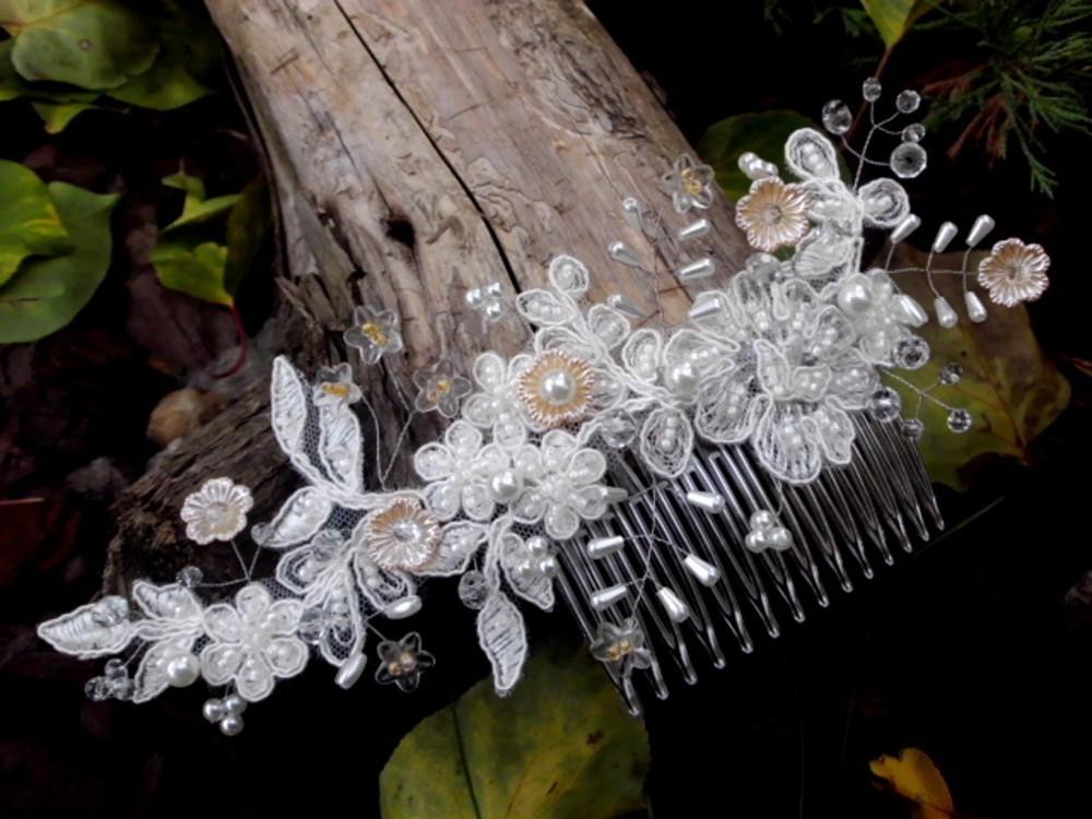d51f91a86e8 svatební hřebínek do vlasů - meruňkový   Zboží prodejce jaseta