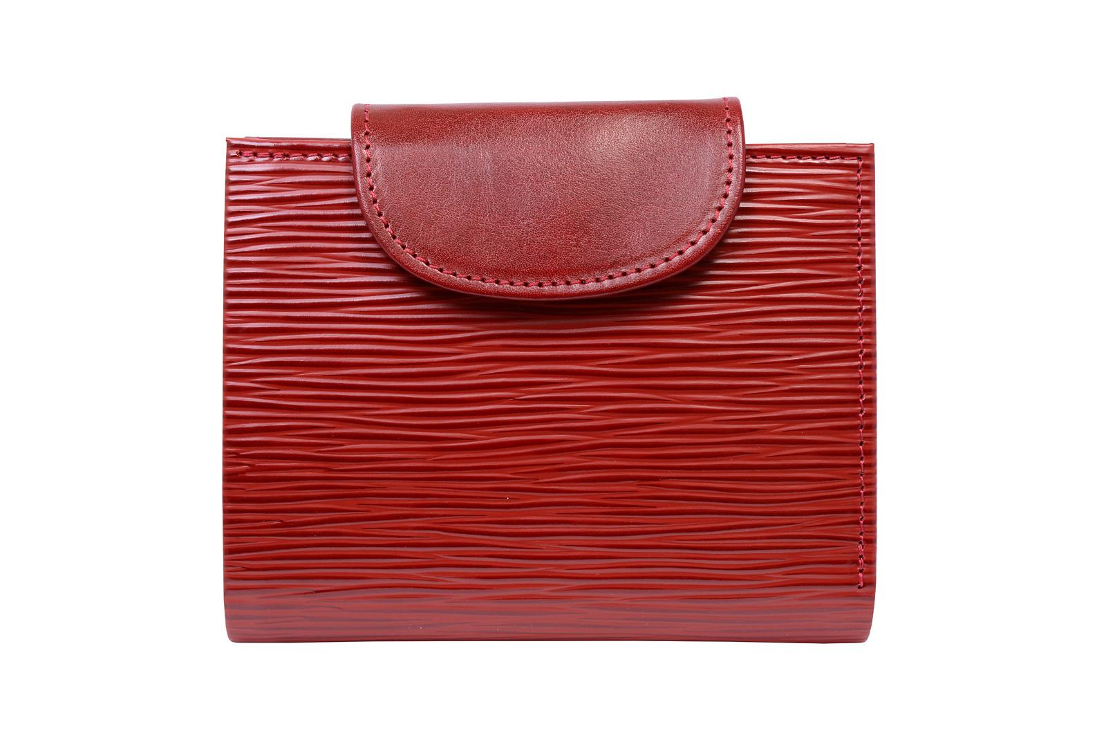kožená peněženka (červená- vroubky)   Zboží prodejce VerosHajn  026ccd697b