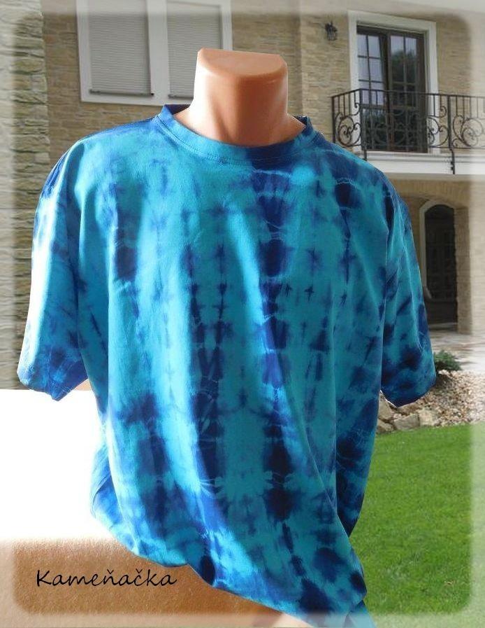 fce4007ba1f5 pánské tričko batikované- tyrkysovo-modrá   Zboží prodejce Kamenacka ...