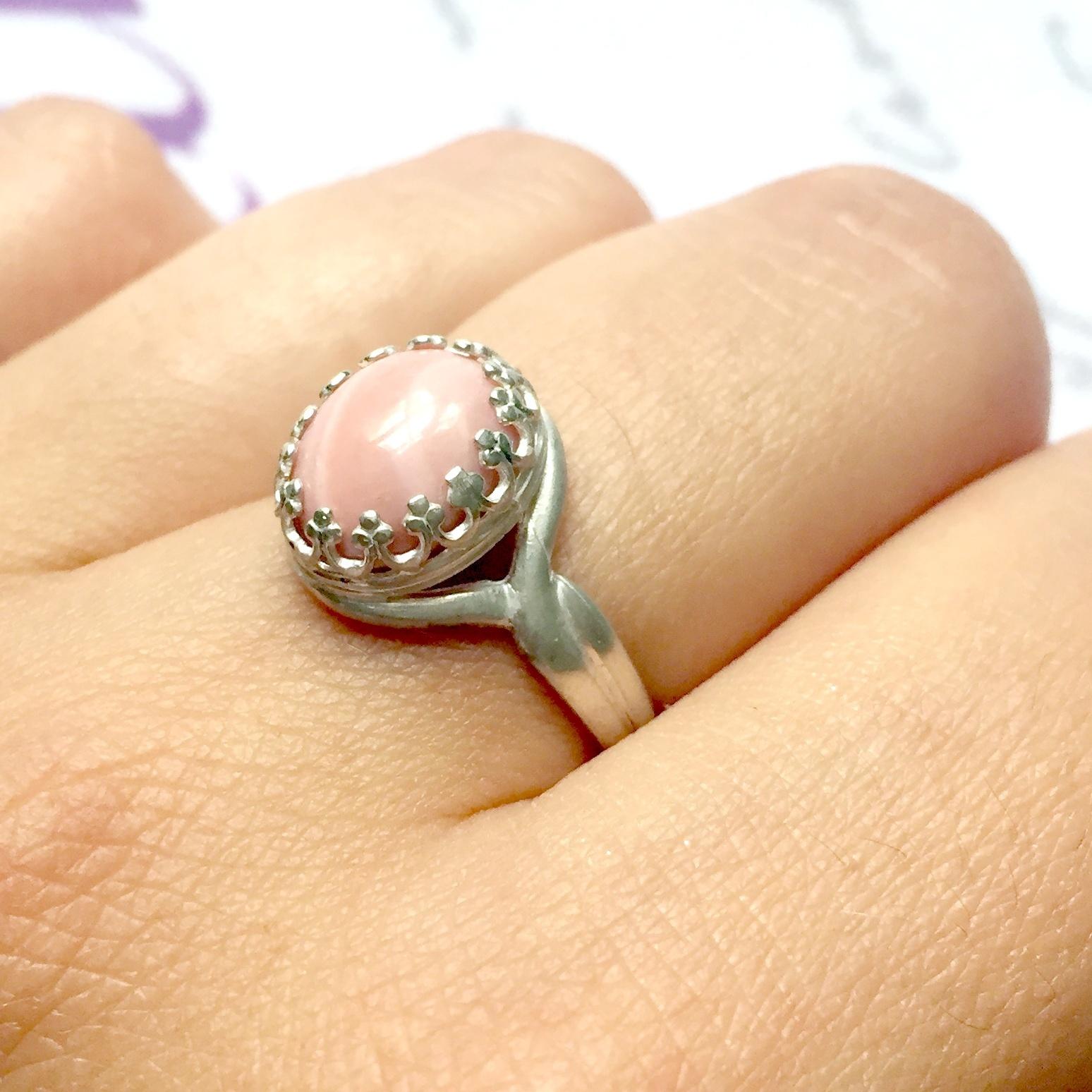 5e2bfc9db Strieborný prsteň s andským ružovým opálom Ag925 / Zboží prodejce ...