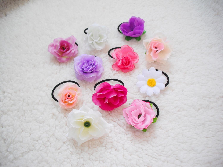 Gumičky do vlasů s květinou   Zboží prodejce angelieenka  cb337cb665