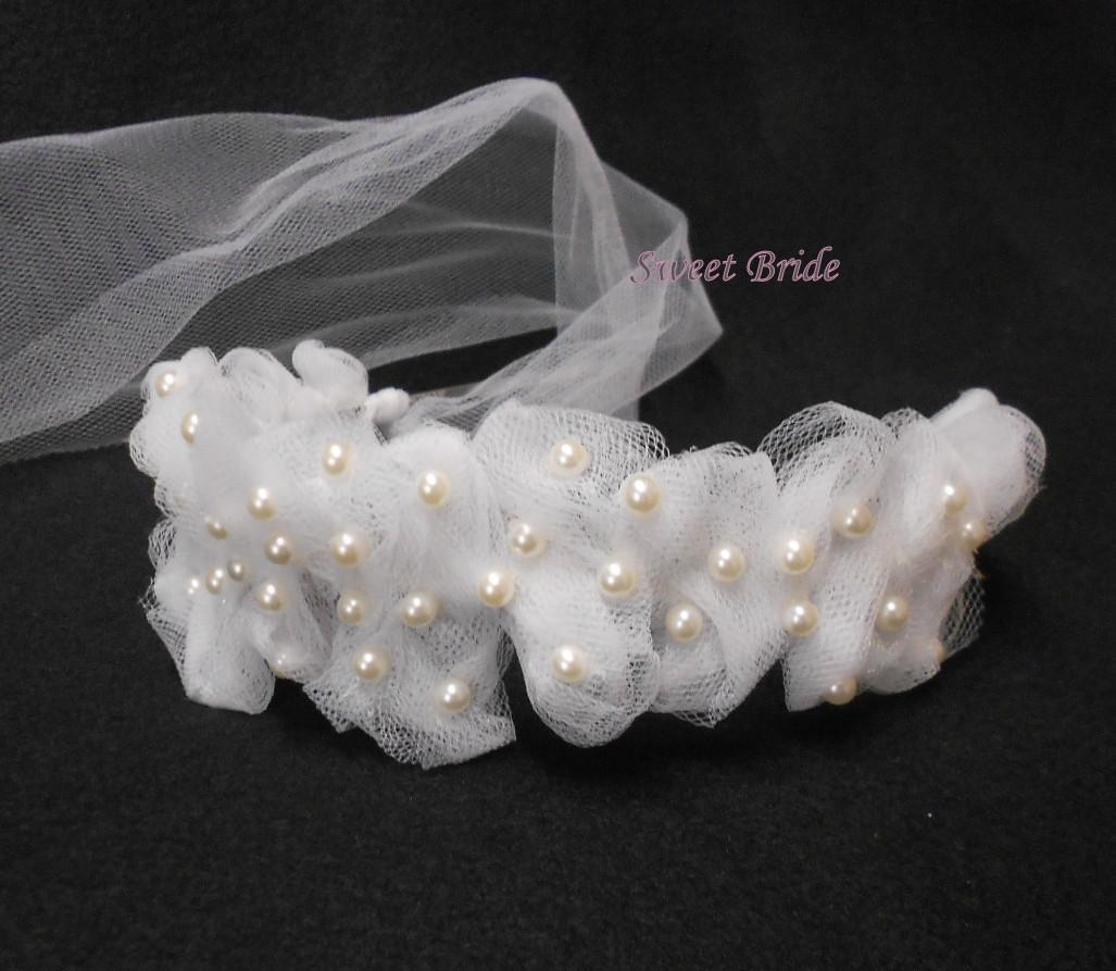 Svatební čelenka se závojem 60   Zboží prodejce Sweet bride  6b7a3b53e4