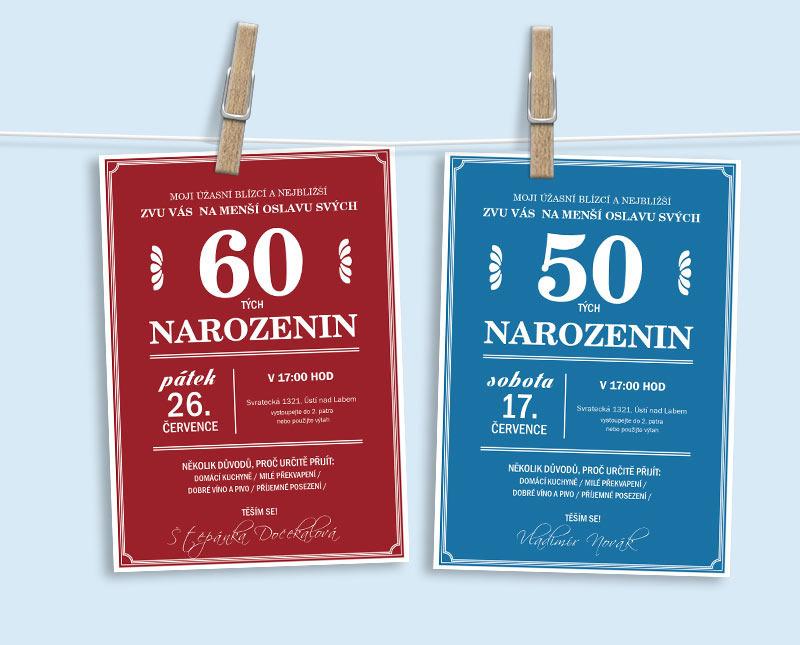 pozvánka na narozeniny 50 Pozvánka na narozeniny (No.22a) (červená) / Zboží prodejce yarkal  pozvánka na narozeniny 50