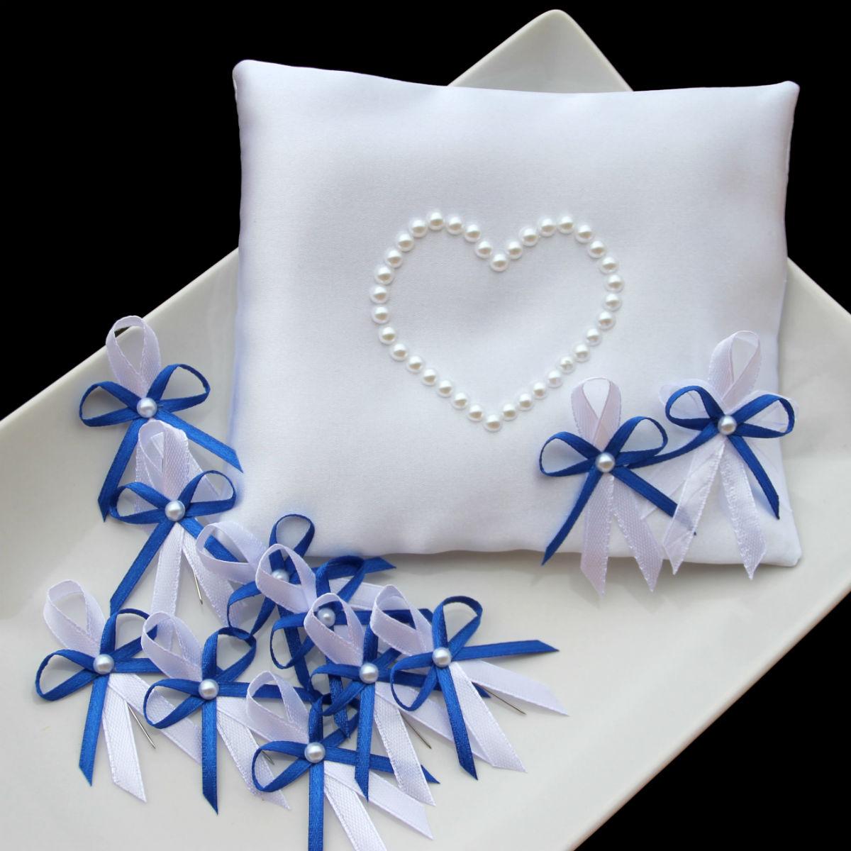 Svatba Kralovsky Modra Polstarek Vyvazky Zakladni Sada 1 6 10