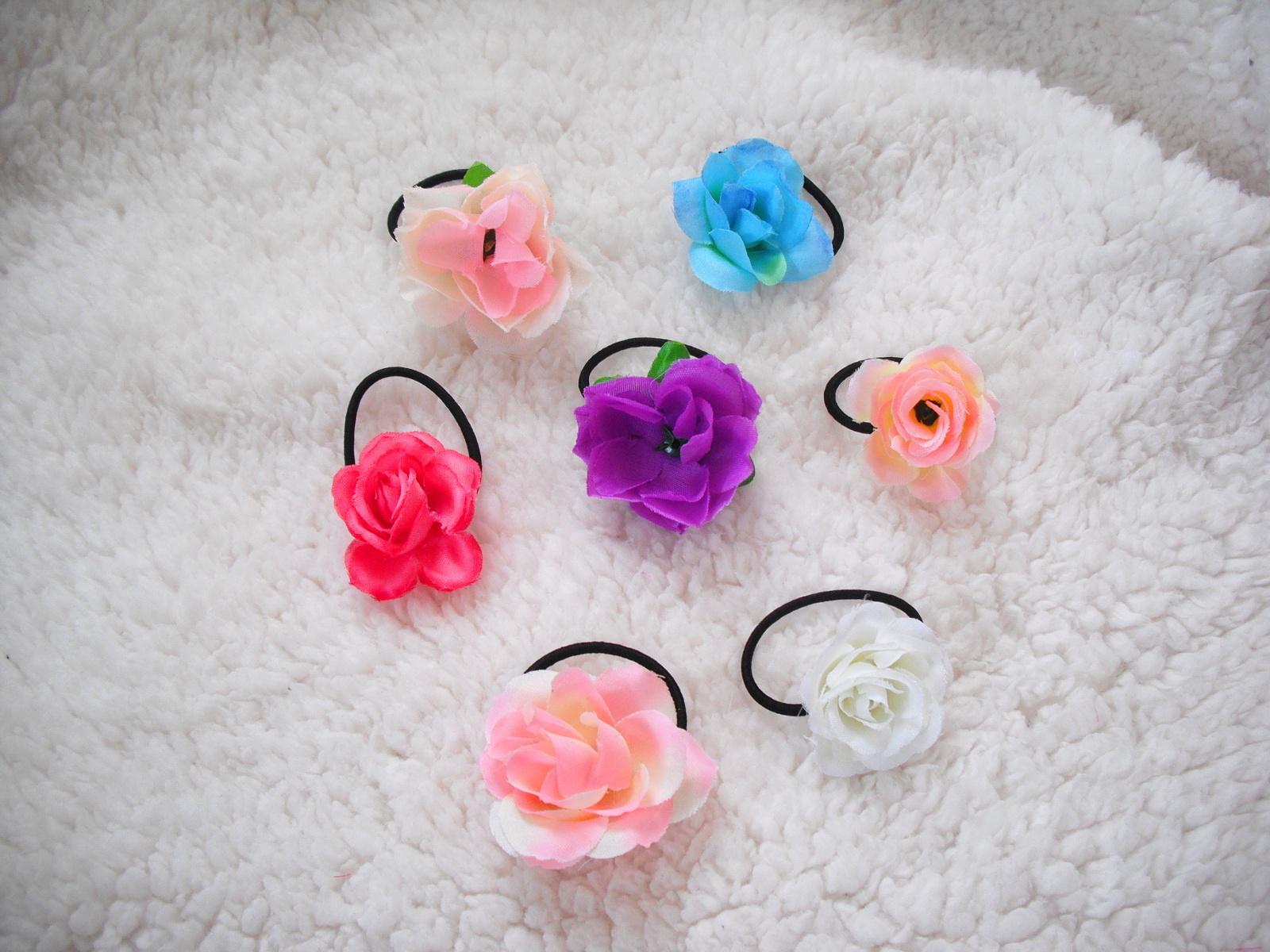 Květinové gumičky do vlasů   Zboží prodejce angelieenka  053c1593e2