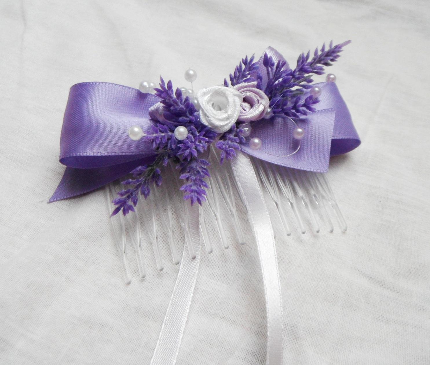 235de357c33 hřebínek do vlasů levandulový   Zboží prodejce verixlenka svatební ...