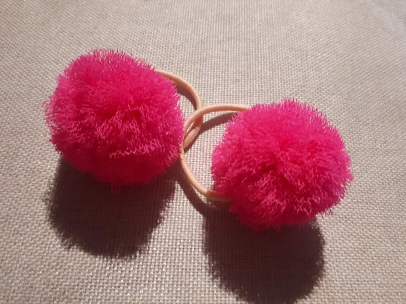 Růžové tutu pompom bambulky do vlasů   Zboží prodejce micka.k2  2989b034f1