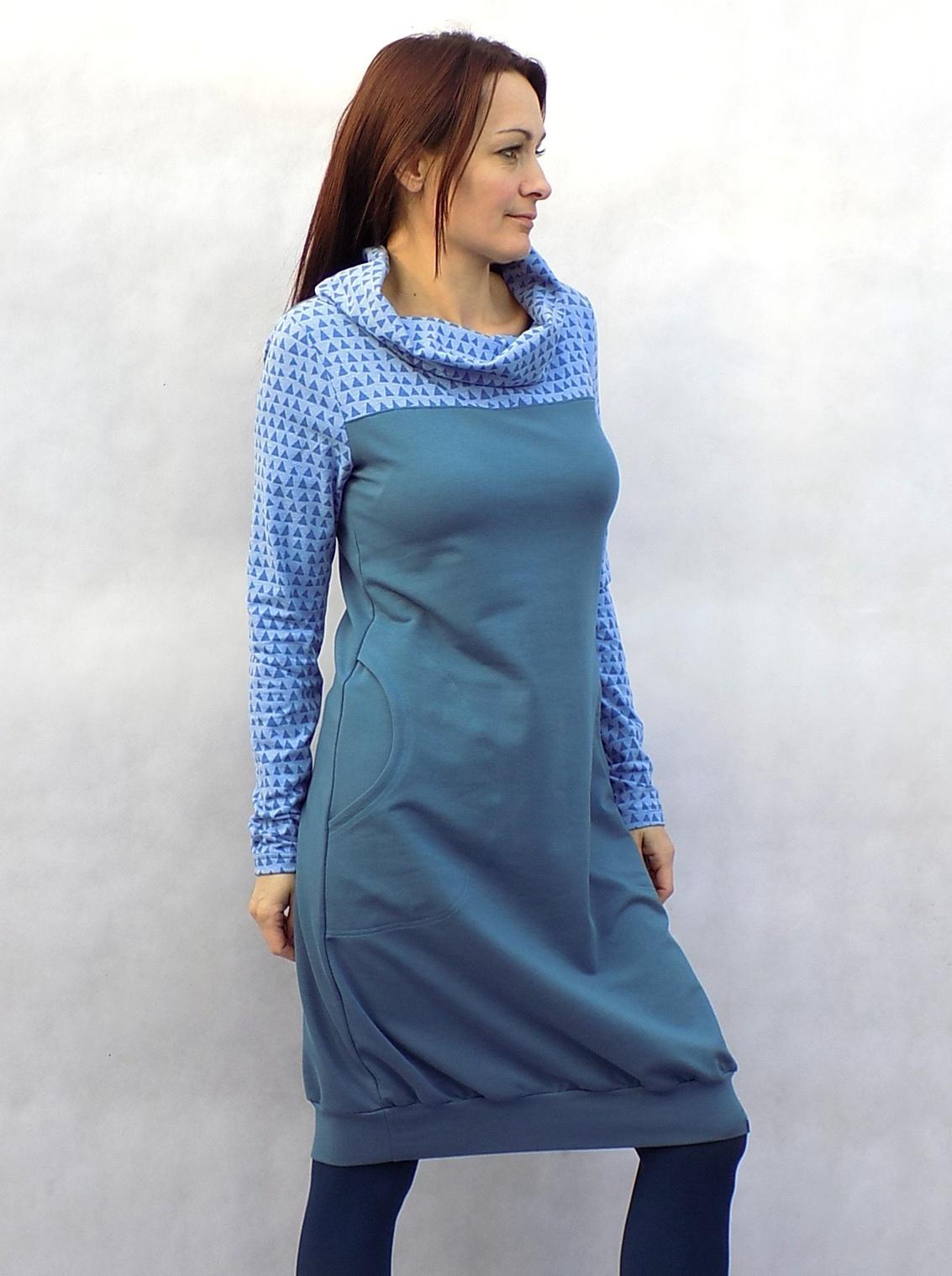 Modré šaty s rolákem...vel. L XL   Zboží prodejce LaPanika  e9cf5a3b81e