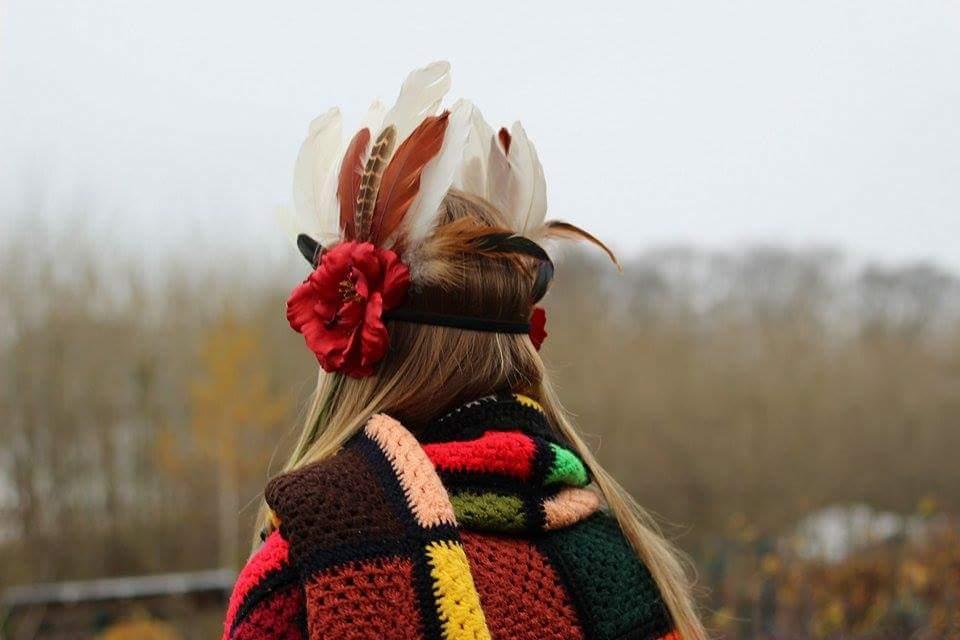 ba4610447ea Čelenka s květy a peřím   Zboží prodejce PEPE Cap by Radka