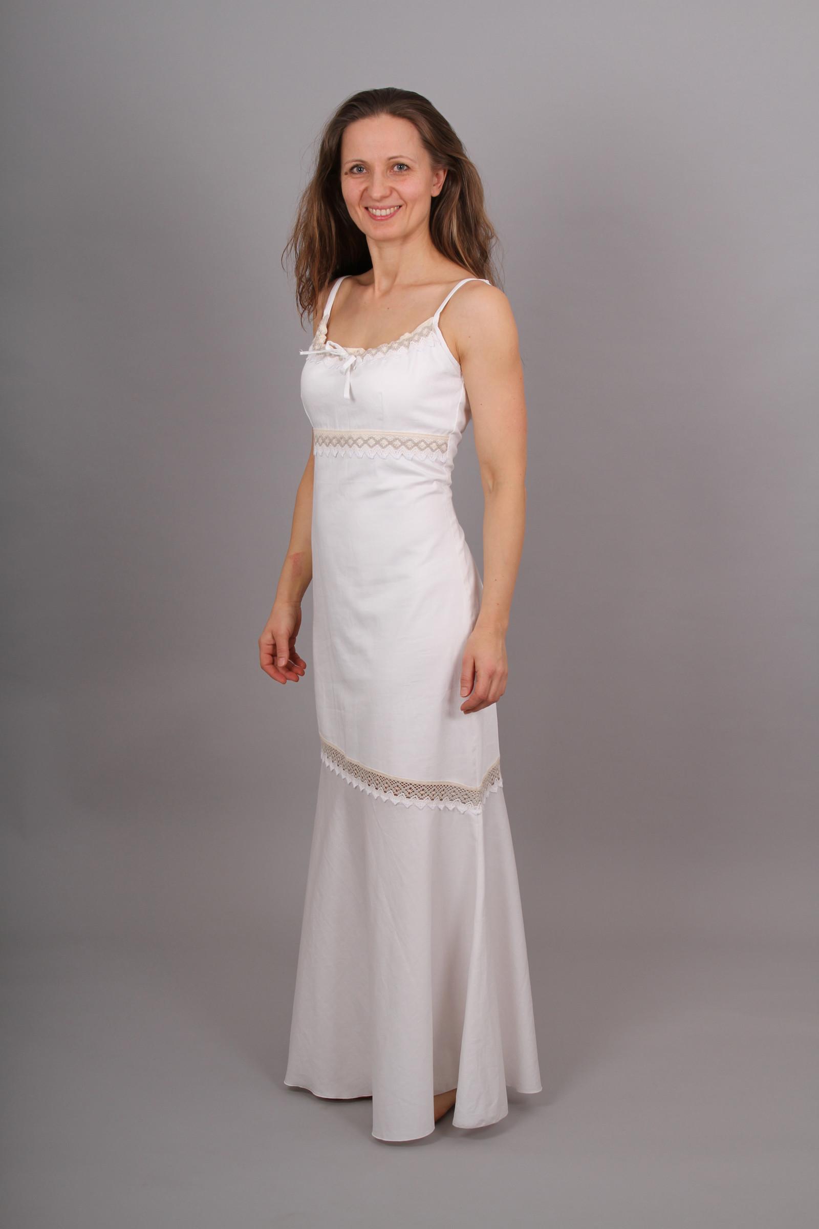 d869cddc411d Bílé saténové šaty s krajkou   Zboží prodejce Zrozena pro krásu ...