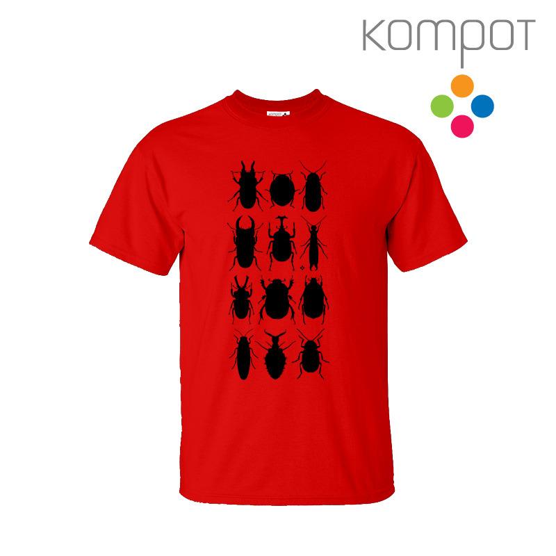 fa14dd68a Pánské tričko s Brouky :: červené - vel. S-2XL / Zboží prodejce ...