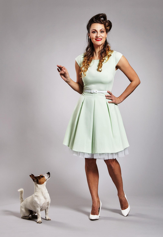 2d77bea76f Mentolové retro šaty   Zboží prodejce JaneBond