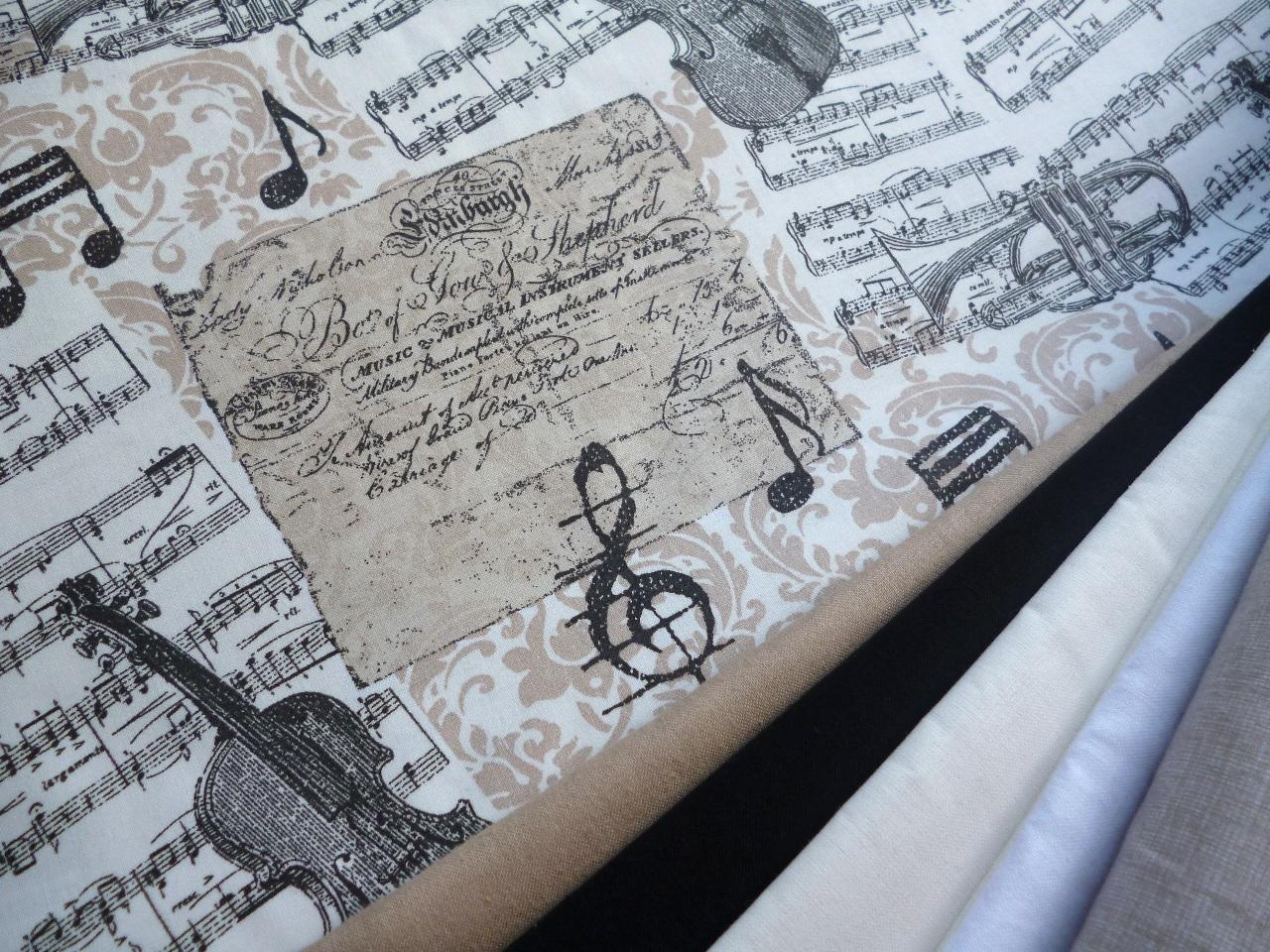 d29f5c0d2b0c Noty a housle-béžová látka - metráž   Zboží prodejce JehLenka